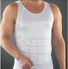 Comfortable mens body shaper quick dry shape vest soft body shaper slimming abdomen men slimming vest