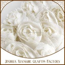 Fashion chiffon Rose Embroidery Beaded Lace Flower Trim