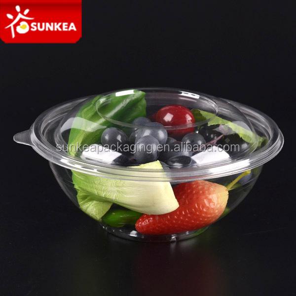 Jetable emporter en plastique saladier avec couvercle bols - Saladier plastique avec couvercle ...