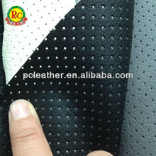 Synthetic leather for jacket wholesale perforated leather fabric