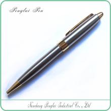 silver/gold customized logo engraved executive pens ballpoint famous brands