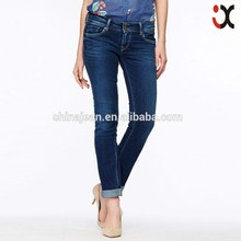 2015 Lady fashion cotton tight leg wrinkle jeans(JXW162)