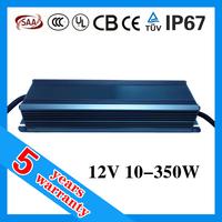 5 years warranty 30W 60W 70W 100W 120W 150W 200W 250W 300W waterproof LED power supply 12V with PFC