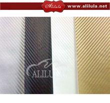 Air Bubble Free 3D Carbon Fiber Sticker 1.52*30m Auto gold color 3D carbon fiber for car wrapping Best price