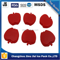 100ml apple shape ice box, red apple ice pack, ice brick for camping cooler bags