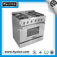 Hyxion 5.2 cu.ft infrared broil oven stainless steel 36 inch gas range with grill top