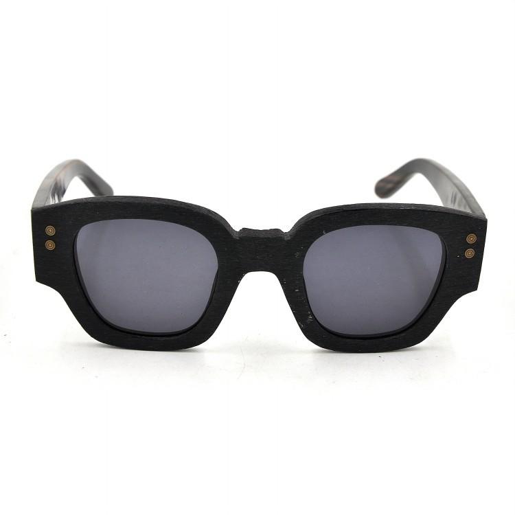 Big Frame Black Glasses : Vintage Big Black Frame Sunglasses Elegant Wood Bamboo ...