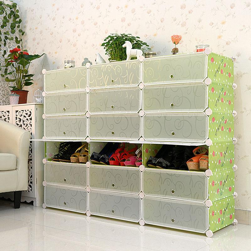 En plastique empilables cerise motifs de chaussures de grandes armoires de r - Cube metallique rangement ...