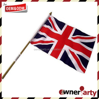 Top Selling Factory Price High Quality Promotion Hand Waving Union Jack Flag