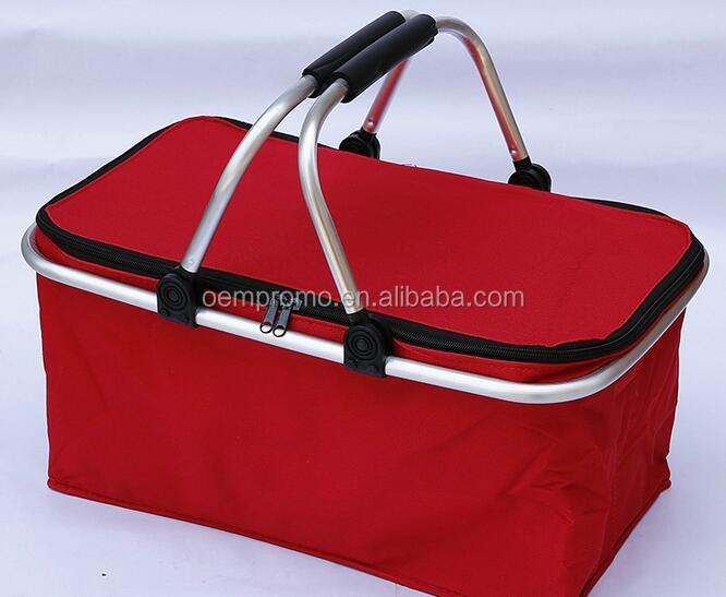 OEMPROMO Environmental 600D Durable Foldable Shopping Basket/ Shopping Cart