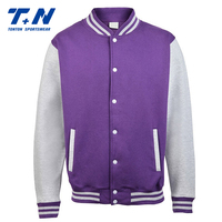 fashionable printed jersey college baseball boys casual jacket in china