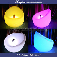 modern sofa furniture / night club plastic sofa set/ glow led sofa