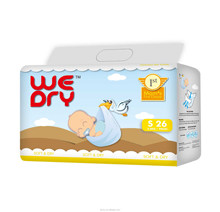 Super Breathable comfortable baby diapers with Magic tape