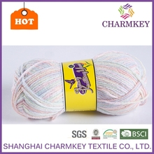 recycled cotton t-shirt mvs spun yarn polyester acrylic blend yarn from charmkey brand