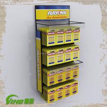 Acrylic Wall Mounted Advertising Display Acrylic Display Case With hooks