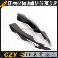 Real Carbon fiber Car eyebrow for AUDI A4 B9 2013 up