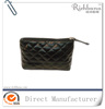 Promotion cosmetic bag,make up bag,beauty bag black quilted leather cosmetic bag