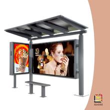 New activities promotion led billboard scrolling street billboard box light solar system bus shelter