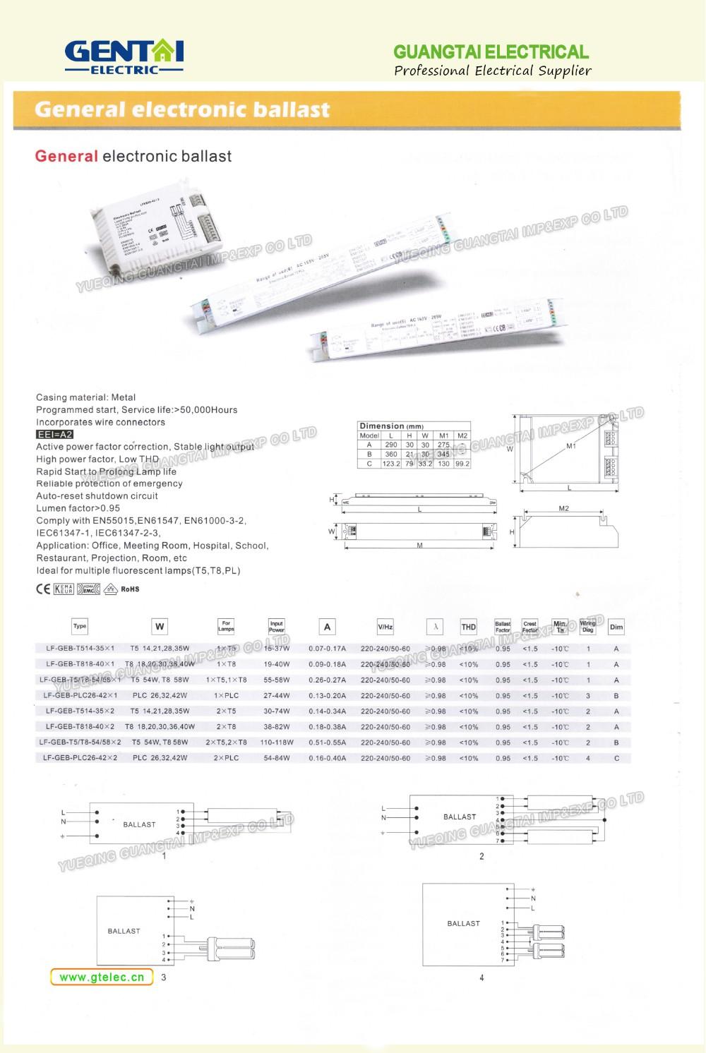 Electronic Ballast For 2d Circular Fluorescent Tube Light Buy Choke Circuit Diagram 40w 18 19 20