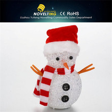 Made In China Durability Sparkling Exquisite Elegance fiber optic snowman
