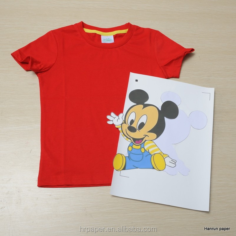 Dark cotton t shirt transfer paper with pigment ink in a4 for T shirt transfer paper for dark fabrics