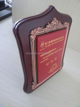 luxury new style gold foil stick wooden plaque red trophy souvenir award wooden plaque blank