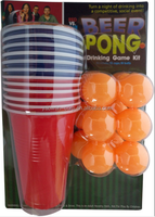 customized Beer pong plastic cup with ball set
