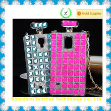 for Samsung S5 Luxury perfume bottle jeweled cell phone case