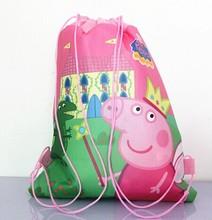 promotional cheap drawstring foldable reusable Non-woven shopping bag