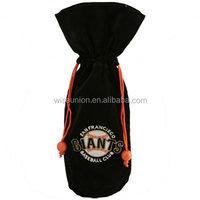 giveaway logo artwork customised liquor bottle velvet bag