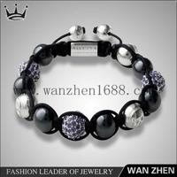 2015 new trendy shamballa bead bracelet kits