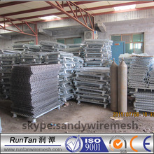 rolling warehouse steel folding Storage Cage / Warehouse stack racking systerm wire container