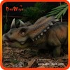 Outdoor small size high quality realistic animatronic dinosaur