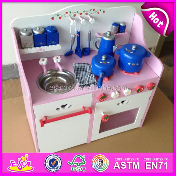2015 New pretend kitchen, popular wooden toy kitchen set and best seller wooden toy kitchen W10C065
