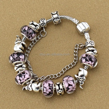 925 Sterling Silver Jewelry Elephant Charm Murano Beads Bracelets for women Gift