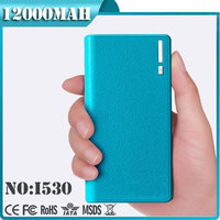 12000mah Dual USB Output Wallet Style Smart power bank case for galaxy note 2