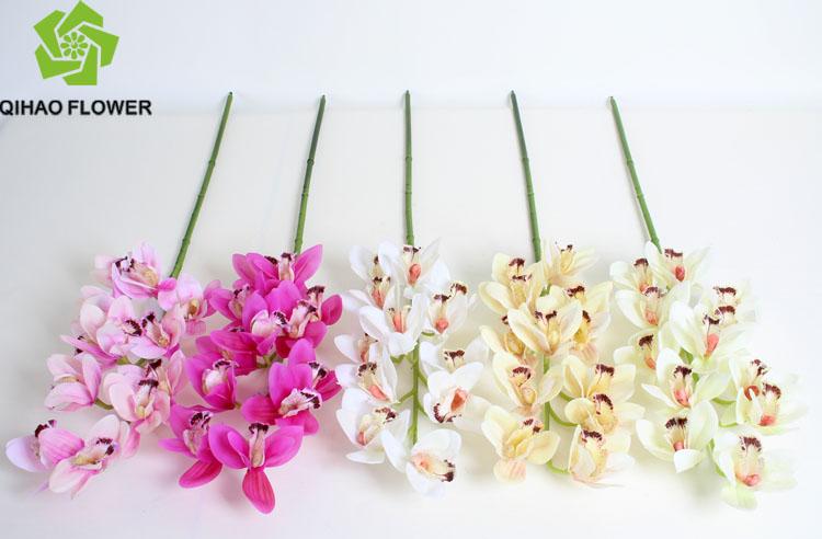 Arranjo de flores de casamento artificial orqu dea flor for Plastico para lagunas artificiales