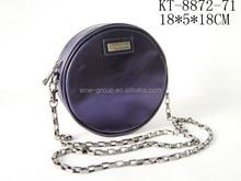 Stylish Fashionable PU Leather Round Shape Ladies Cross Body Handbag Phone Case