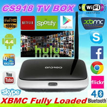 Quad Core Android 4.4 CS918 TV Box with XBMC global iptv box android cs918 quad core cs918 cs918s smart iptv set top box