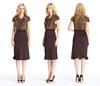 2015 New Fashion Ruffle Midi Dress Woman Dress