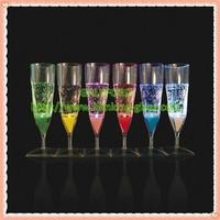 Hot Sale Liquid Active LED Flashing Champagne Glass