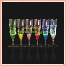 Hot Sale Liquid Active LED Flashing Champagne Glass