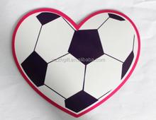 heart shape printing fridge magnet sticker with football design