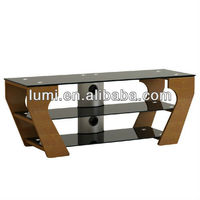Universal Aluminum Curved MDF LCD TV Stand
