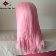 Stable Quality Heat Resistant Synthetic Hair Straight cosplay pink wig
