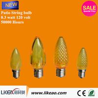 decorative c7 bulb low voltage led christmas lights