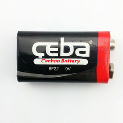 CEBA 6f22 9v battery carbon zinc battery for consumer products