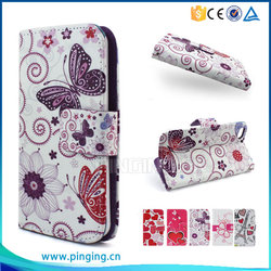 Colorful printing pu leather case flip cover for Samsung galaxy A710 for other mobile phone