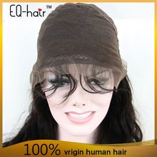 New products 6A high quality black women brazilian hair full lace wig with baby hair,human hair lace wig
