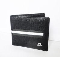 2014 new model black cow leather wallet wholesale
